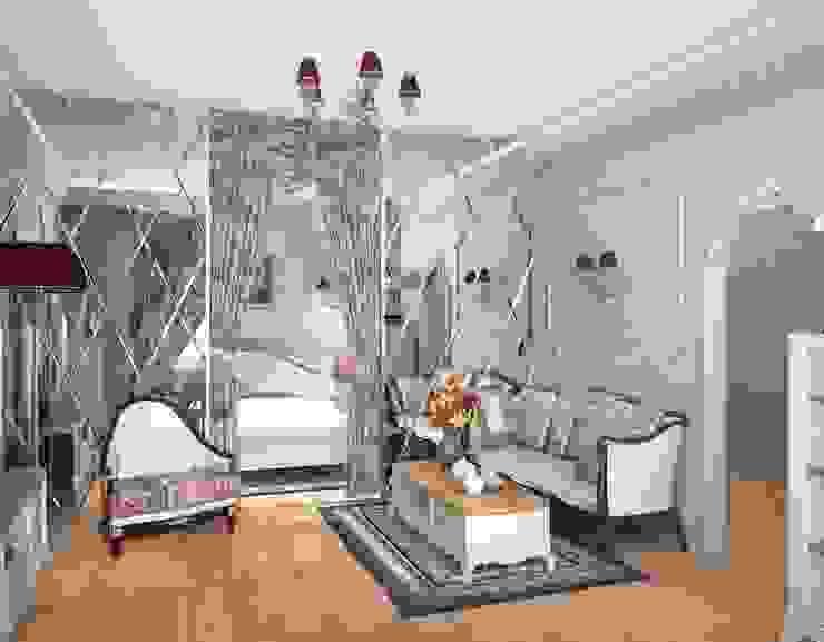 1-но комнатная квартира 61.15m² Гостиная в классическом стиле от PLANiUM Классический