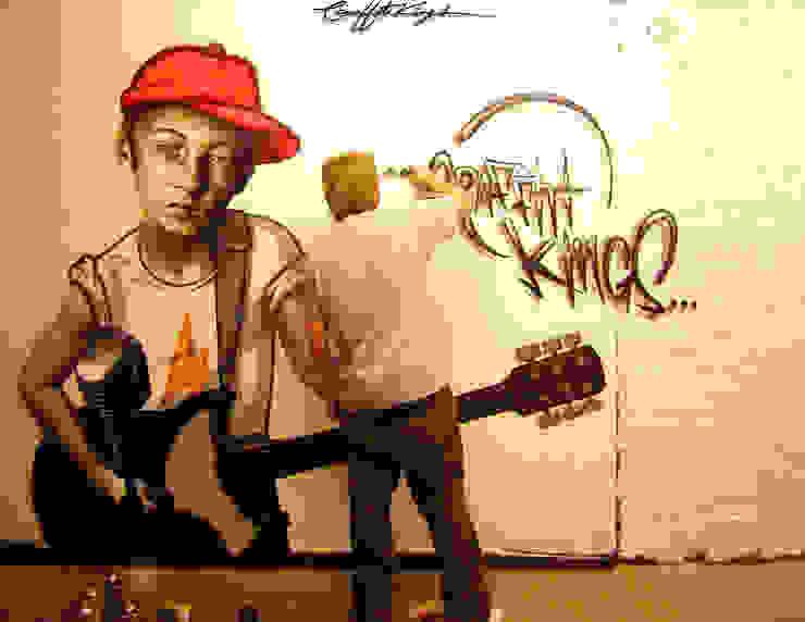 Graffiti Street Art Mural di Graffiti Kings Moderno