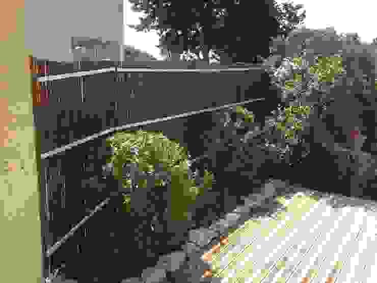 Brise vue et plantations mis en place par In&Out Garden Méditerranéen