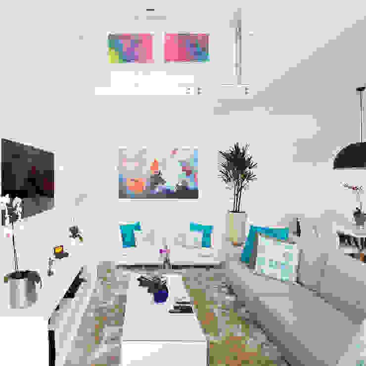Modern Living Room by SAA_SHIEH ARQUITETOS ASSOCIADOS Modern