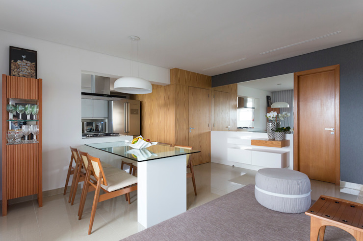 Sala de Jantar e Entrada Salas de jantar modernas por Haruf Arquitetura + Design Moderno