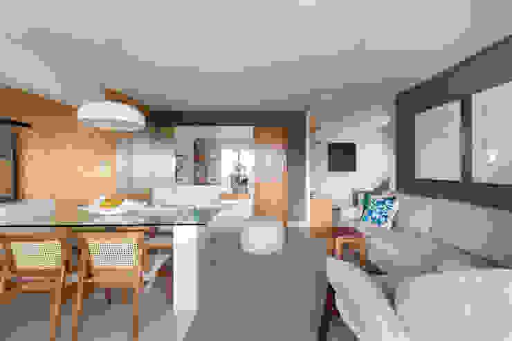 Sala de Estar e Jantar Salas de estar modernas por Haruf Arquitetura + Design Moderno