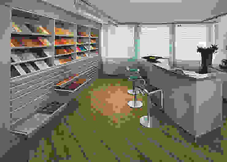 TIENDAS_SUELOS Y PAREDES Oficinas y tiendas de estilo moderno de SUELOS Y PAREDES SIN OBRAS Moderno