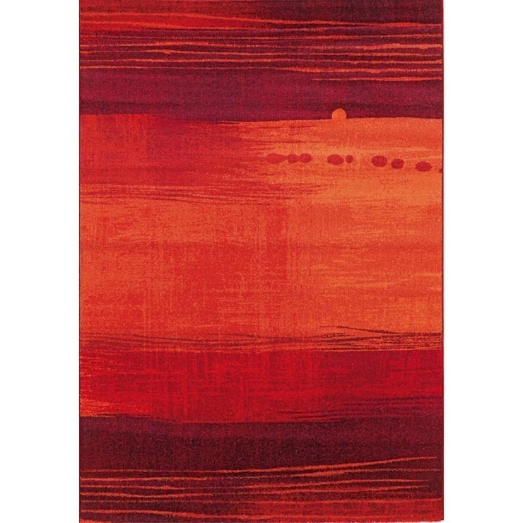 'Capri IX' Contemporary red luxury hand tufted rug by Sitap od My Italian Living Nowoczesny