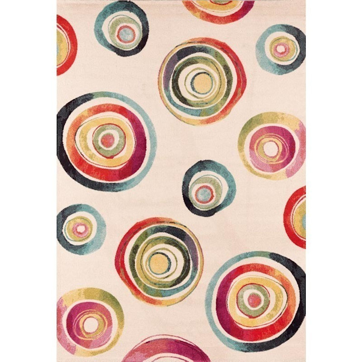 'Capri V' Modern swirl watercolour hand tufted rug by Sitap od My Italian Living Nowoczesny