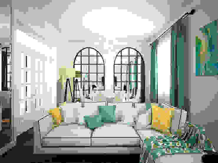 Дизайн-проект 3-й квартиры Гостиная в классическом стиле от Лилия Панкова Классический
