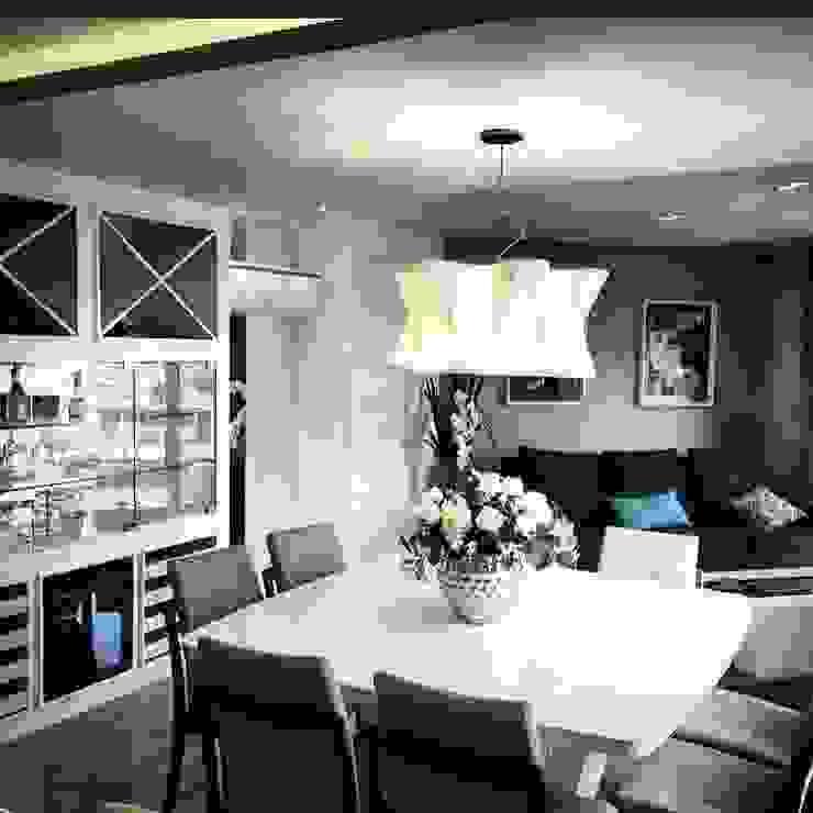 Apartamento D | B Salas de jantar modernas por Jessica Rodrigues Arquitetura Moderno