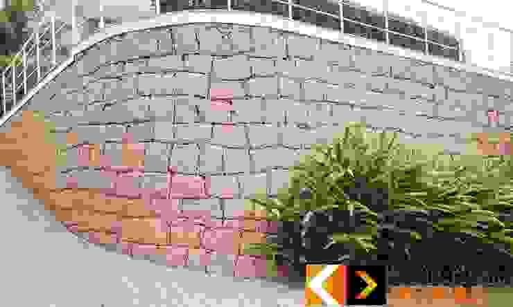 Tường & sàn phong cách mộc mạc bởi Estância Pedras Mộc mạc