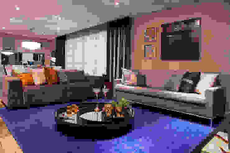Apartamento São Caetano do Sul Salas de estar modernas por Biarari e Rodrigues Arquitetura e Interiores Moderno