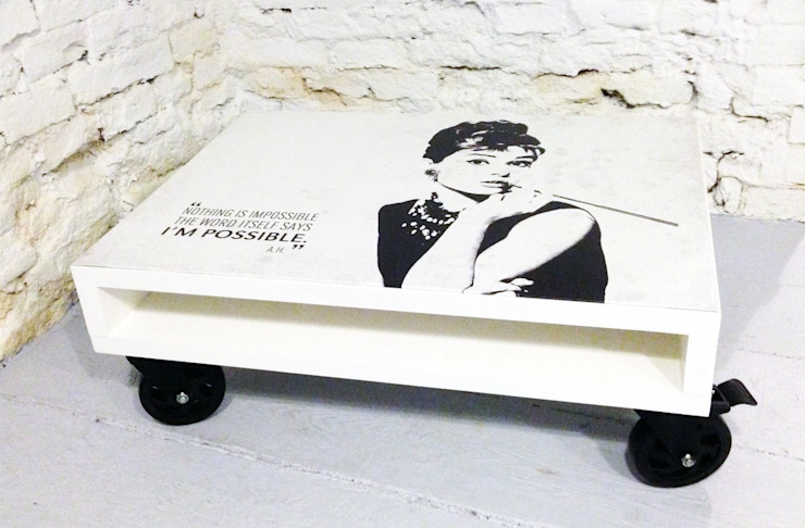 Stolik kawowy Audrey/ Audrey coffee table 60x80 od Tailormade Furniture Skandynawski