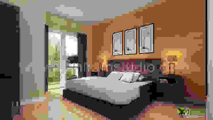 3D Innenarchitekt klassische elegantes Schlafzimmer Modern hotels by Architectural Design Studio Modern