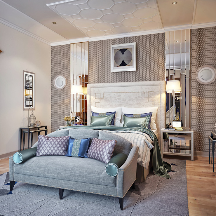 Спальня в стиле Ар-деко: Спальни в . Автор – Sweet Home Design,