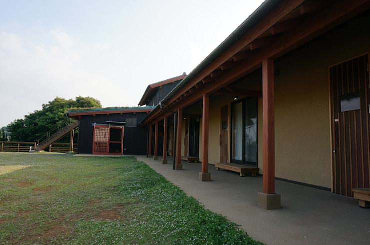 回廊 オリジナルな 壁&床 の 虎設計工房 オリジナル 木 木目調