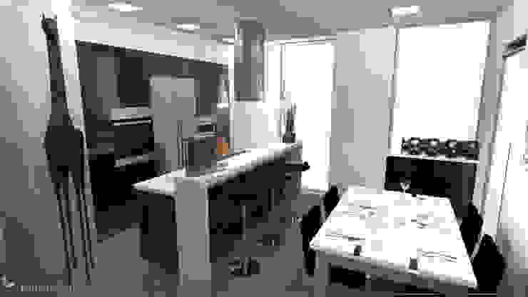 Proyecto de Reforma de Vivienda en madrid Cocinas de estilo minimalista de Rubén Couso Minimalista