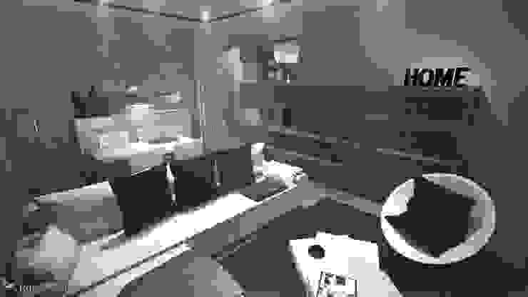Proyecto de Reforma de Vivienda en madrid Salones de estilo minimalista de Rubén Couso Minimalista