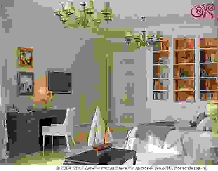 Кабинет в спальне Спальня в классическом стиле от Дизайн студия Ольги Кондратовой Классический