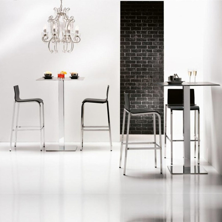 'Vent' steel & wood stacking bar stool by Infiniti homify CocinaMesas y sillas