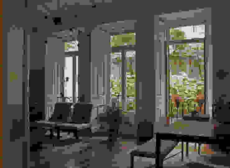 Salón Salones de estilo ecléctico de CYL estudio Ecléctico Madera Acabado en madera