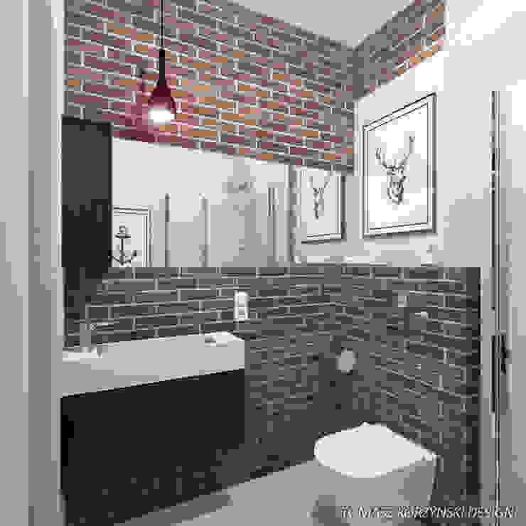 Projekt łazienki Nowoczesna łazienka od Tomasz Korżyński Design Nowoczesny Cegły