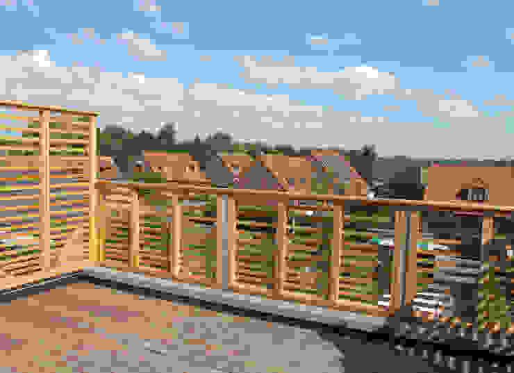 Extension et surélévation d'une maison de ville Balcon, Veranda & Terrasse modernes par F. DEMAGNY ARCHITECTE Moderne