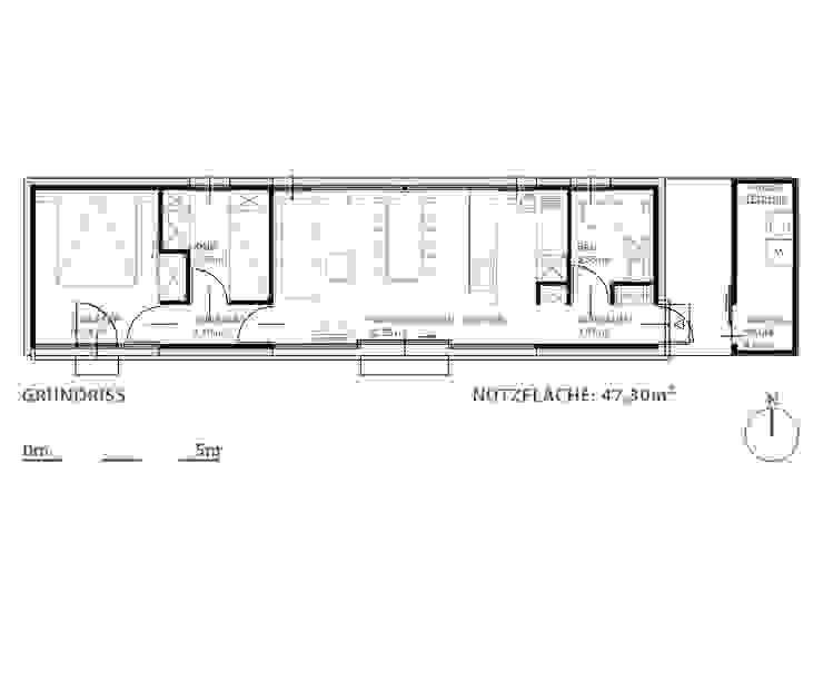 Moving House - Grundriss: modern  von Pilzarchitektur,Modern