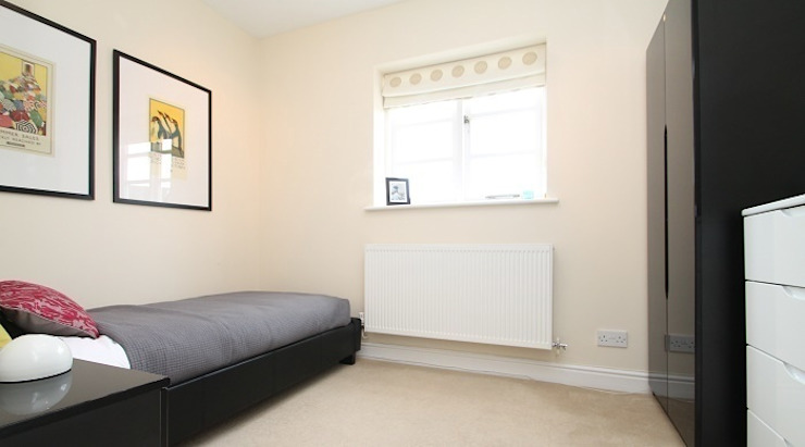 Small bedroom staged with hired furniture and accessories. Heatons Home Styling BedroomAccessories & decoration