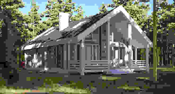 Реконструкция дома из бруса в сосновом лесу. Питер от NK design studio Эклектичный