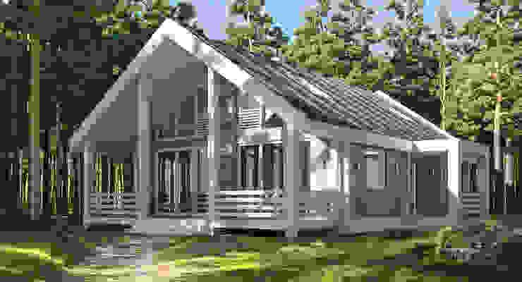 Дом из бруса от NK design studio Эклектичный