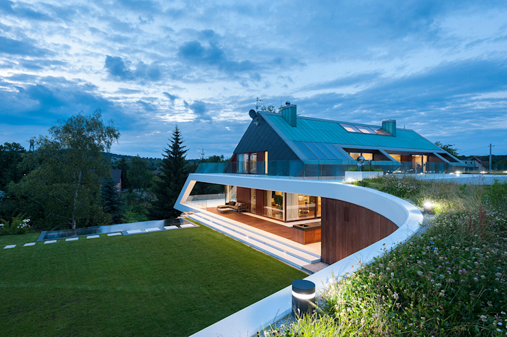 Rumah Modern Oleh MOBIUS ARCHITEKCI PRZEMEK OLCZYK Modern