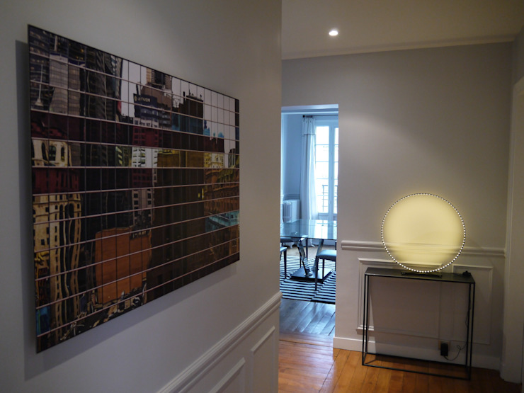 Agence Laurent Cayron Modern Corridor, Hallway and Staircase
