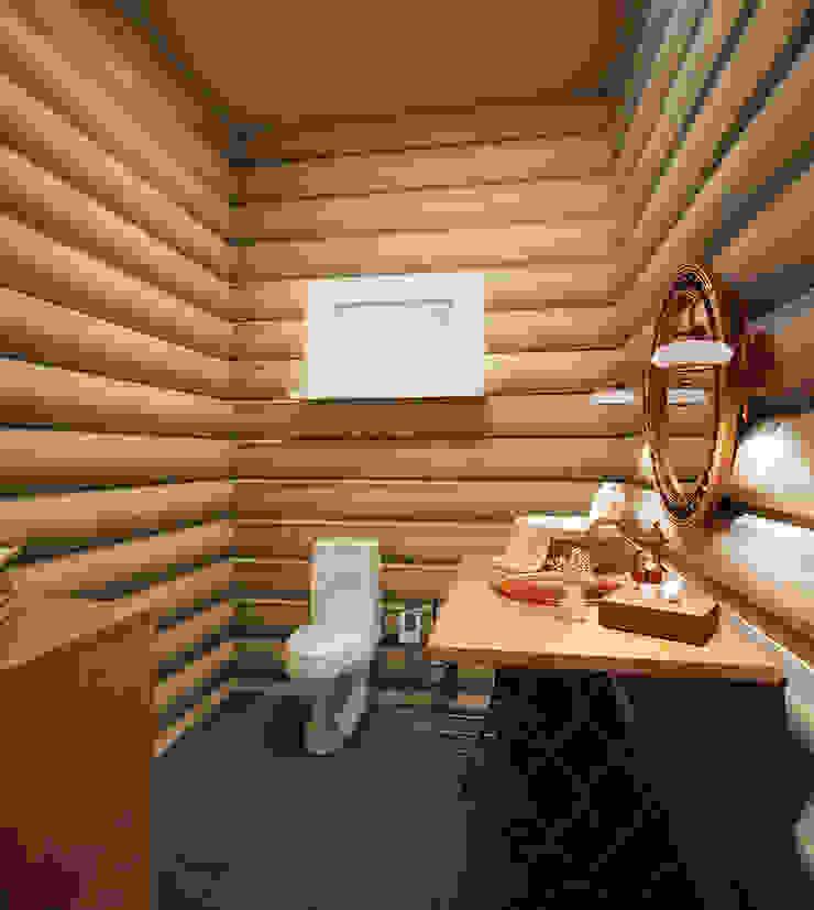 Загородный дом Ванная комната в стиле кантри от дизайнер Алина Куракова Кантри