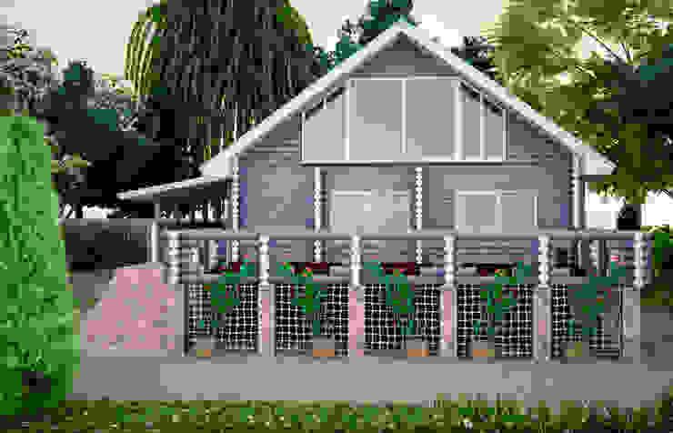Загородный дом Дома в стиле кантри от дизайнер Алина Куракова Кантри