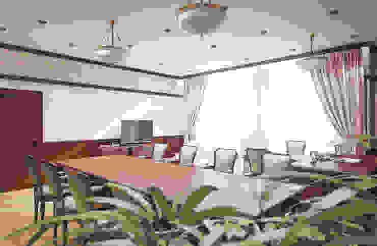 Кабинет руководителя Рабочий кабинет в классическом стиле от дизайнер Алина Куракова Классический