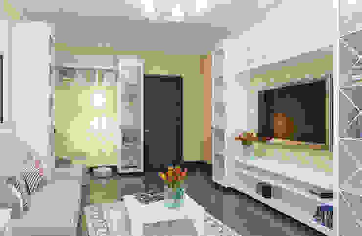 Уютная гостиная Гостиные в эклектичном стиле от дизайнер Алина Куракова Эклектичный