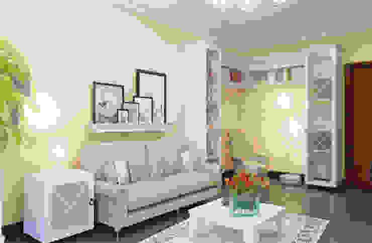 Salas de estilo ecléctico de Студия дизайна и декора Алины Кураковой Ecléctico
