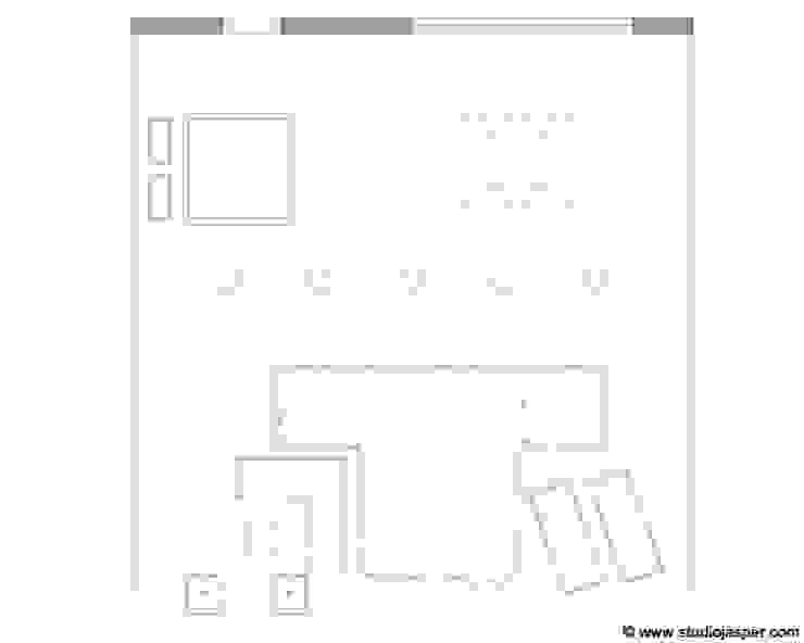 Tekening tuin: modern  door Studio Jasper Interior   Furniture, Modern