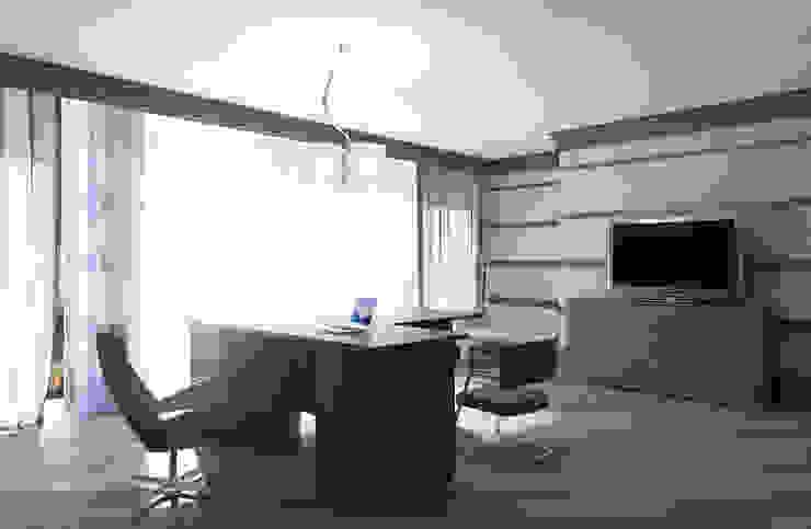 Кабинет для руководителя Офисные помещения в эклектичном стиле от дизайнер Алина Куракова Эклектичный