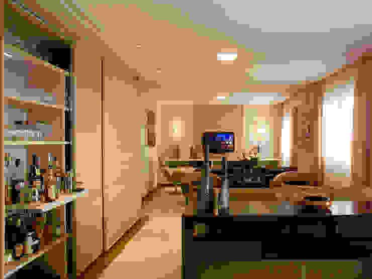 Sala de estar por Flávia Brandão - arquitetura, interiores e obras Clássico