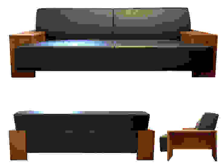 Sofa SQUARE オリジナルデザインの リビング の 株式会社 3rd オリジナル