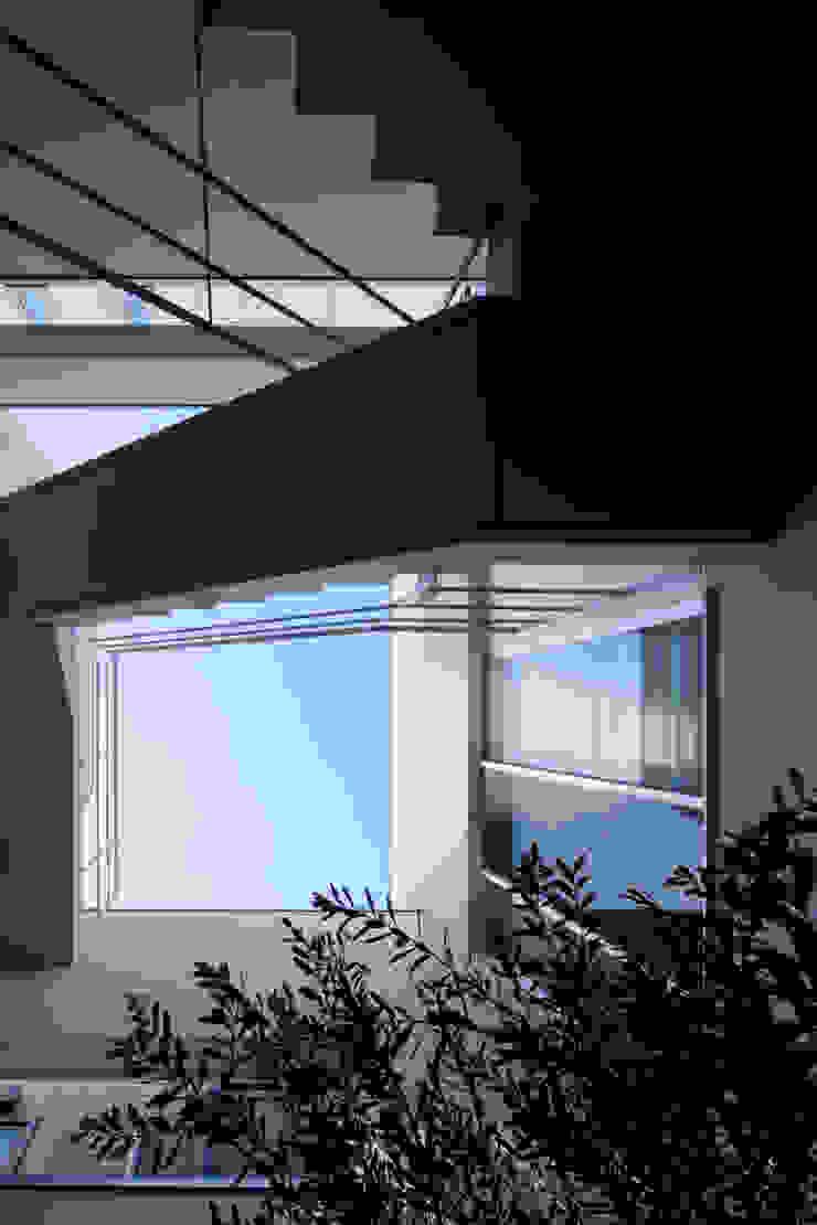 中庭から見た空の風景 モダンな商業空間 の 久保田章敬建築研究所 モダン