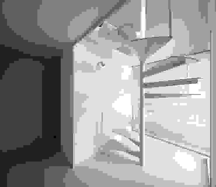 メゾネットタイプ 1階螺旋階段 モダンな商業空間 の 久保田章敬建築研究所 モダン