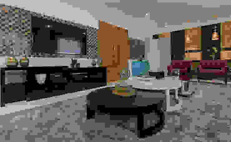 Detalhes sala de estar Salas de estar ecléticas por Helen Granzote Arquitetura e Interiores Eclético