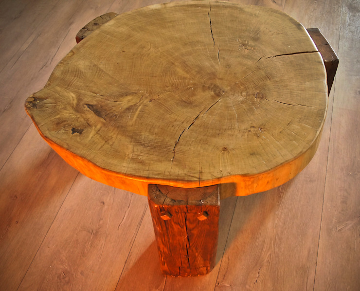 Oak Table, Handmade , od Old Wood Design Rustykalny