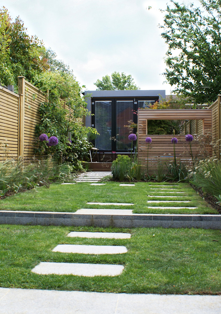 Wargrave Contemporary English Garden de Rosemary Coldstream Garden Design Limited