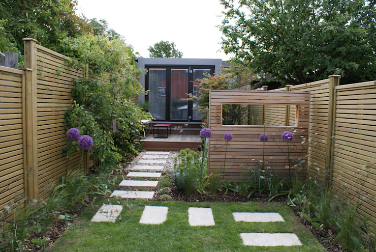 Wargrave Contemporary English Garden Rosemary Coldstream Garden Design Limited
