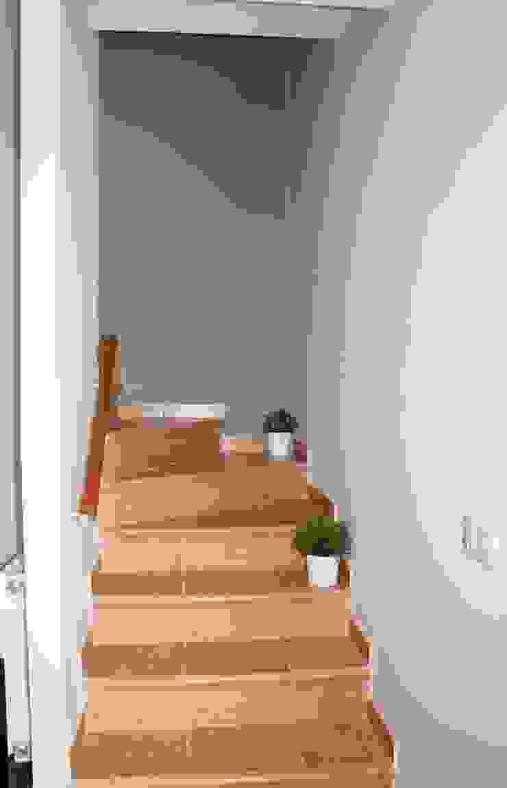 Reforma parcial vivienda RIELLS I VIABREA Pasillos, vestíbulos y escaleras de estilo rústico de ROIMO INTEGRAL GRUP Rústico