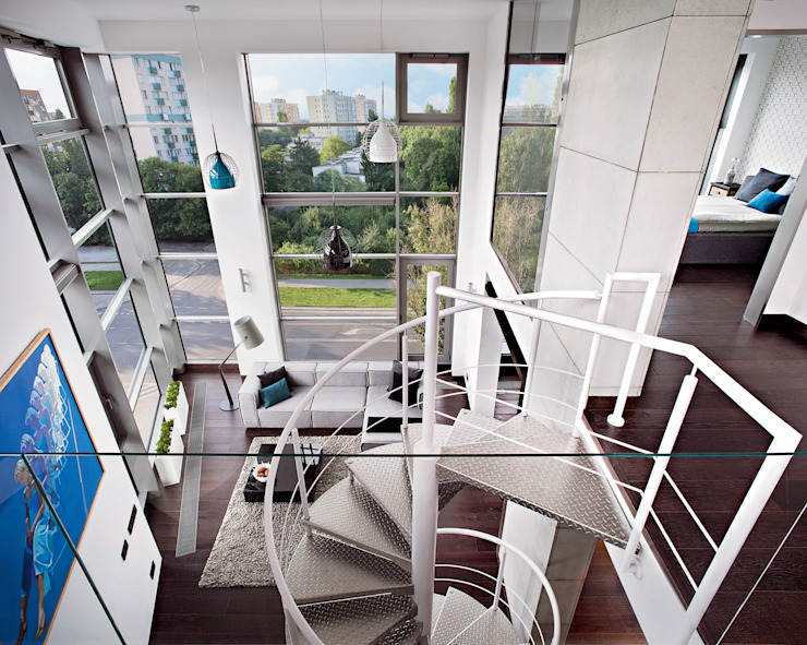 justyna smolec architektura & design Pang-industriya na corridors estilo, Pasilyo & Hagdan
