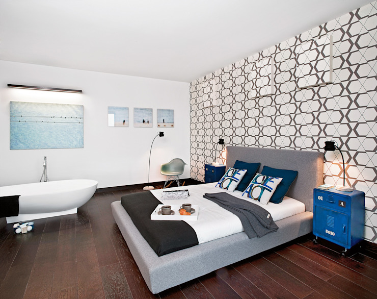 Moderne Schlafzimmer von justyna smolec architektura & design Modern