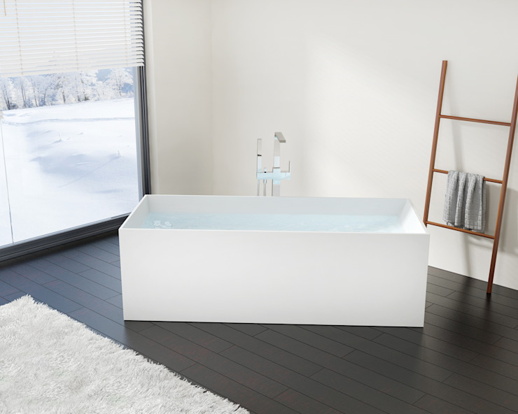 Exklusive freistehende Badewanne BW-06 XL: modern  von Badeloft GmbH - Hersteller von Badewannen und Waschbecken in Berlin,Modern