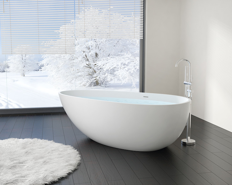 Stilvolle freistehende Badewanne BW-01-XL: modern  von Badeloft GmbH - Hersteller von Badewannen und Waschbecken in Berlin,Modern